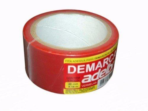 Fita Demarcação Solo Adelbras 48X14 Vermelha