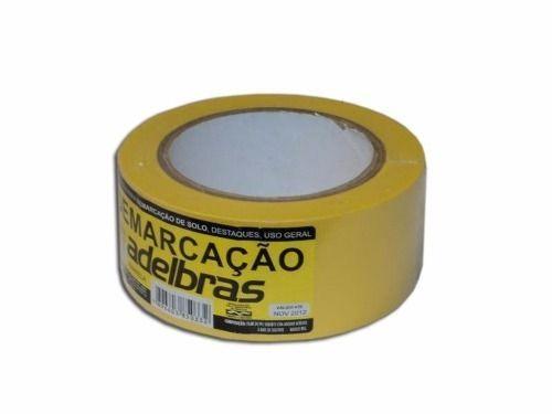Fita Demarcação Solo Adelbras 48X30 Amarela