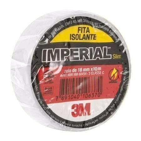 Fita Isolante 3M Imperial 10 Metros Vermelha Kit com 10 Unidades