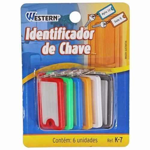 Identificador De Chaves Colorido 6pçs Western K-7