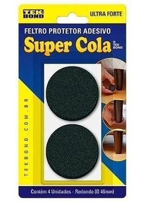 Feltro Adesivo Tekbond Redondo 4 Peças De 4,6cm