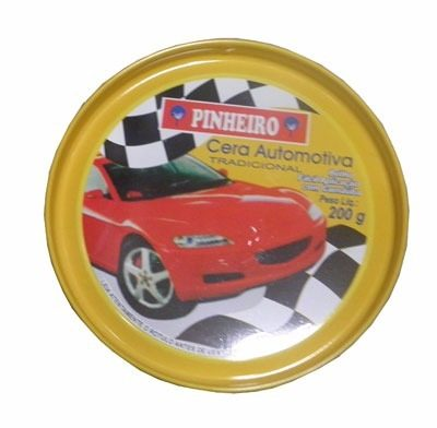 Cera Automotiva Com Silicone E Carnauba Pinheiro 200 Gramas