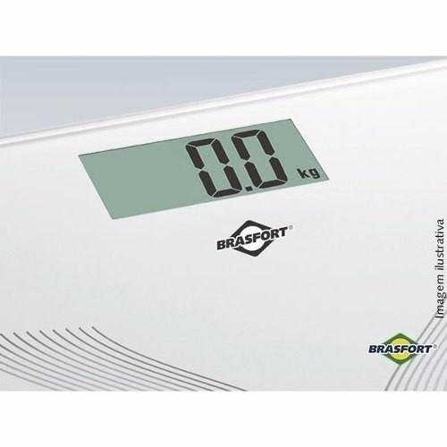 Balança Digital Para Banheiro Quadrada Até 150kg Brasfort