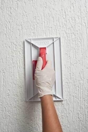 Desempenadeira Plástica Pvc Para Textura Grafiato -18x30cm