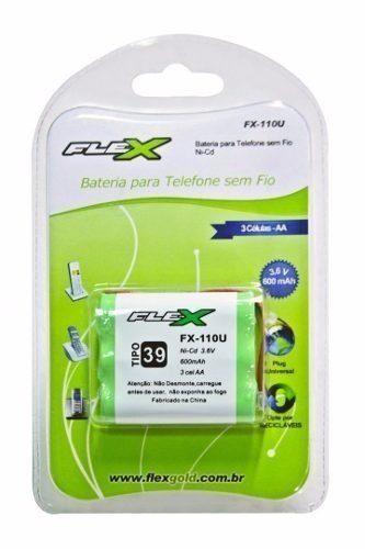 Bateria Telefone Sem Fio 3,6v 600mah Aa Flex Fx-110u