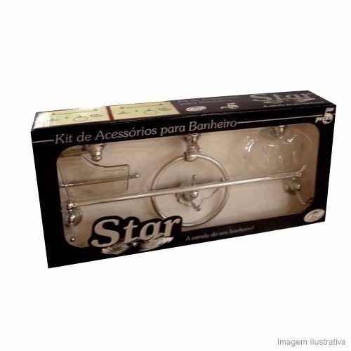 Acessórios para Banheiro STAR 5 Peças Cromado e Fumê
