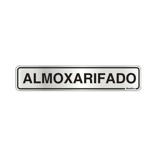Placa Sinalizadora Auto-adesiva Almoxarifado 5x25cm Sinalize
