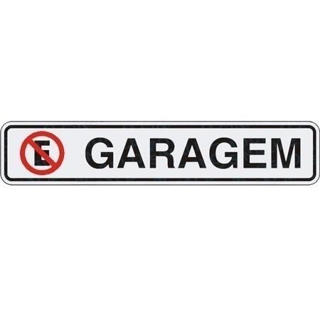 Placa Sinalizadora Auto-adesiva Garagem 5x25cm Sinalize