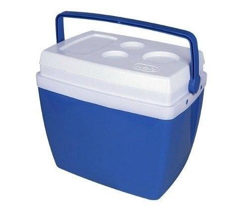Caixa Térmica Cooler C/alça 34lts Azul Mor