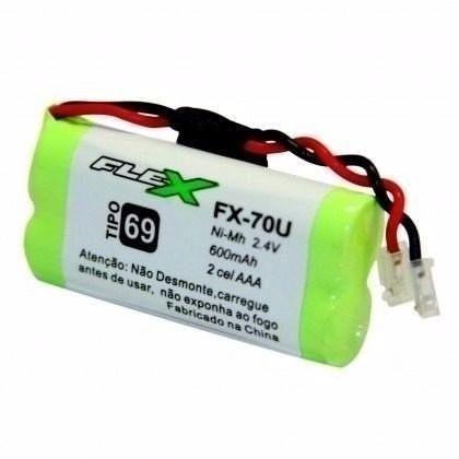 Bateria Telefone Sem Fio 2,4v 600mah Aaa Flex Fx-70u