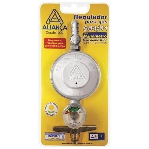 Registro Regulador Válvula De Gás Com Medidor - Aliança