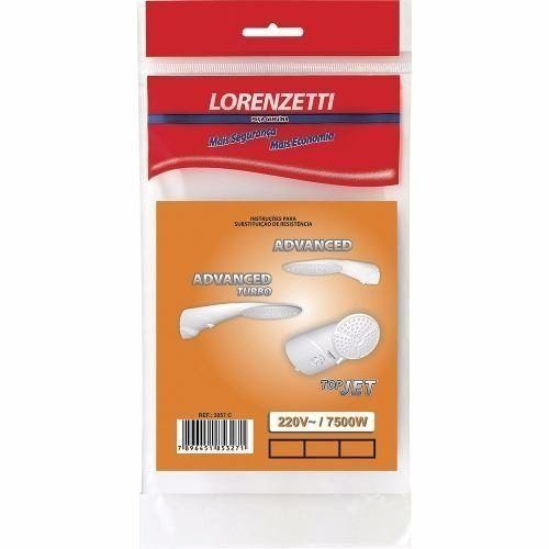 Resistência Lorenzetti Advanced - Turbo - TOP JET 220V 7500