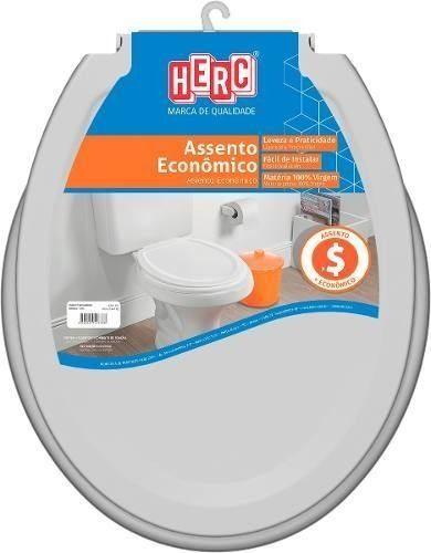 Assento Sanitário HERC Econômico Cinza Claro