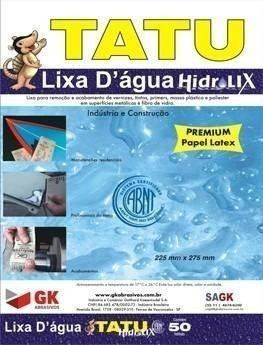 Lixa D'água Tatu Pacote C/ 50 Unidades Nº80