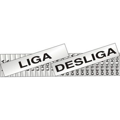 Placa Sinalizadora Liga/desliga 24 Unidades 1x3cm