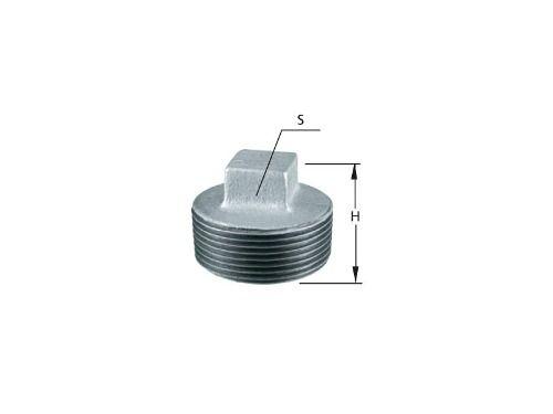Plug Tampão Galvanizado Rosqueavel 2 X 2