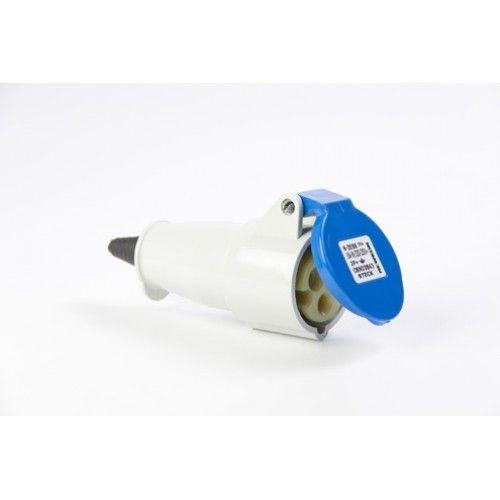 Acoplamento Steck 3P+T 32A 220/240V Azul
