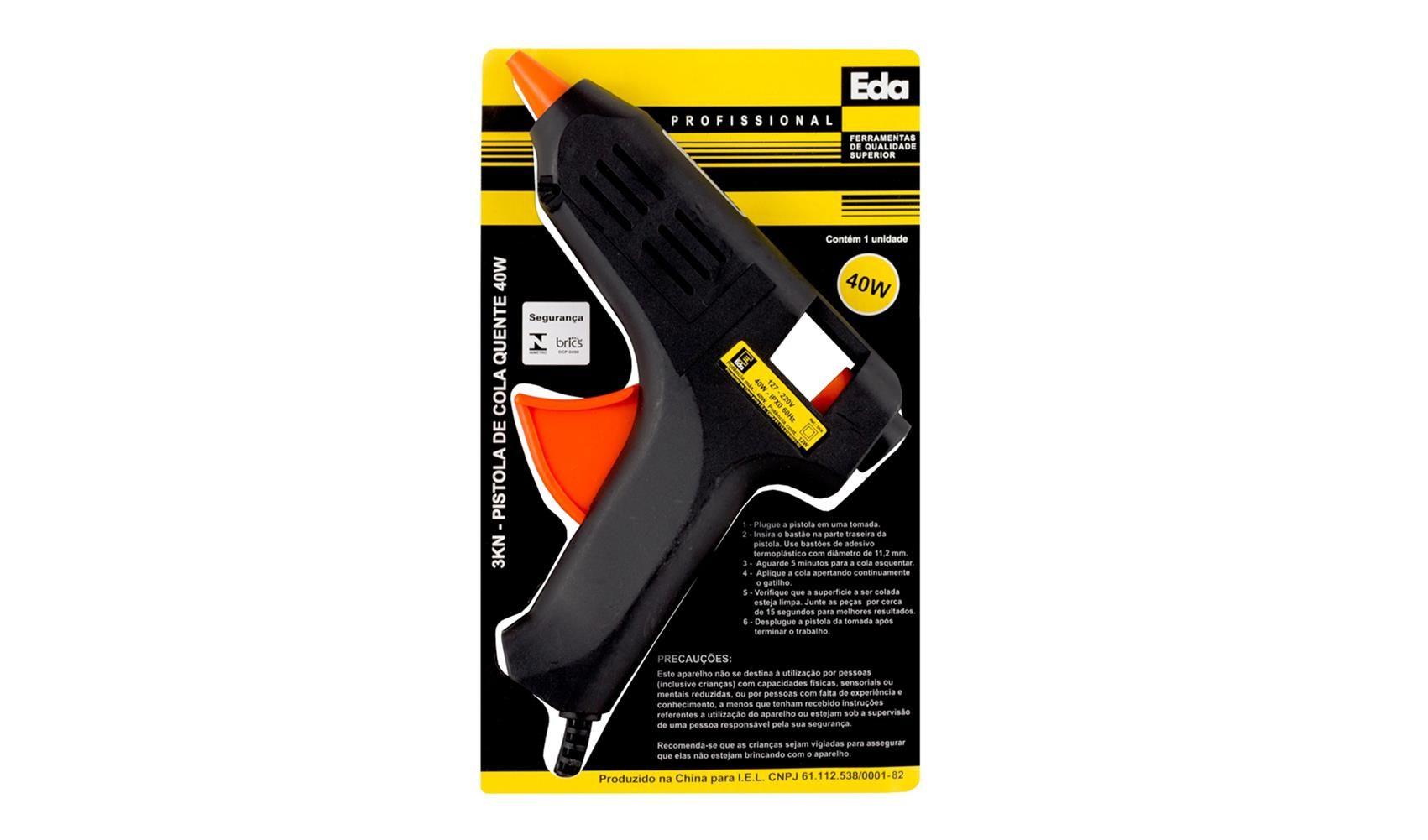 Aplicador Pistola Para Cola Em Bastão Bivolt 40w Eda