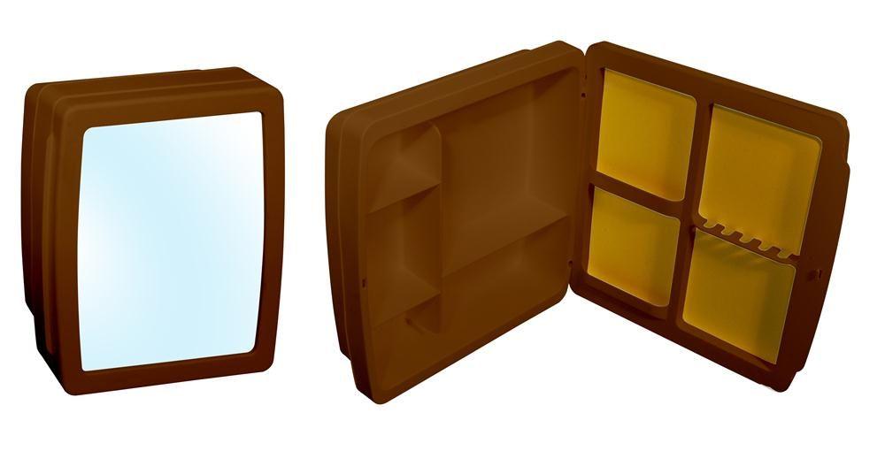 Armário Para Banheiro Herc Caramelo 37x34 - 2654