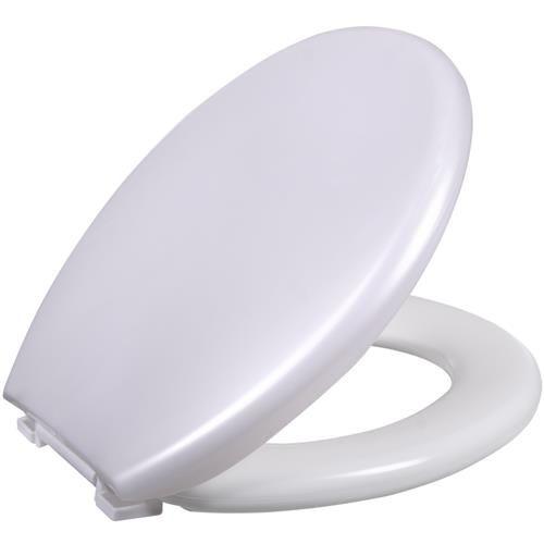 Assento Sanitario Almofadado Oval Universal Perola Astra
