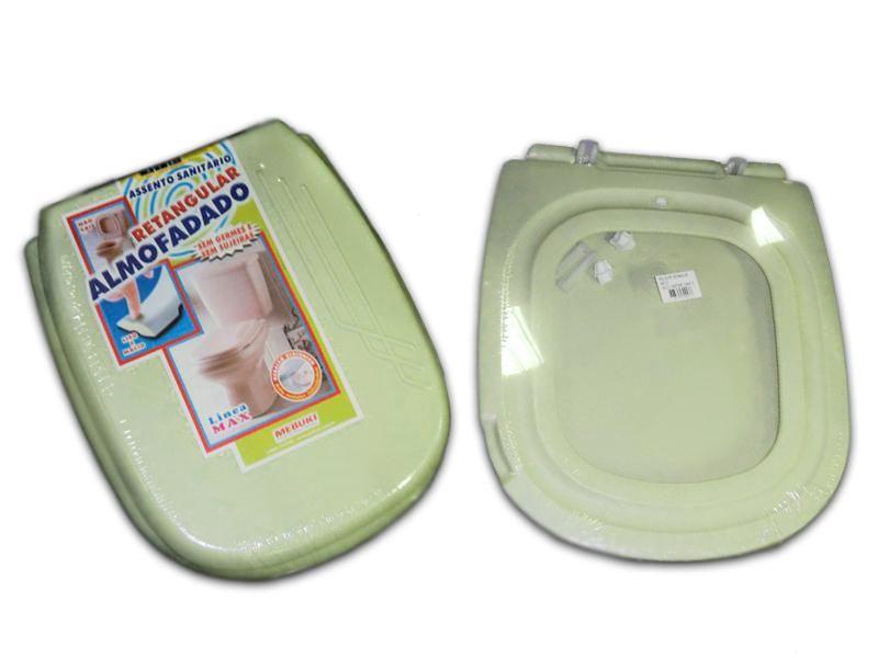 Assento Sanitário Retangular Almofadado Mebuki Verde