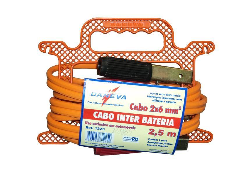 Cabo Bateria 2x6 Mmx 2,5m Cabo Para Chupeta Daneva