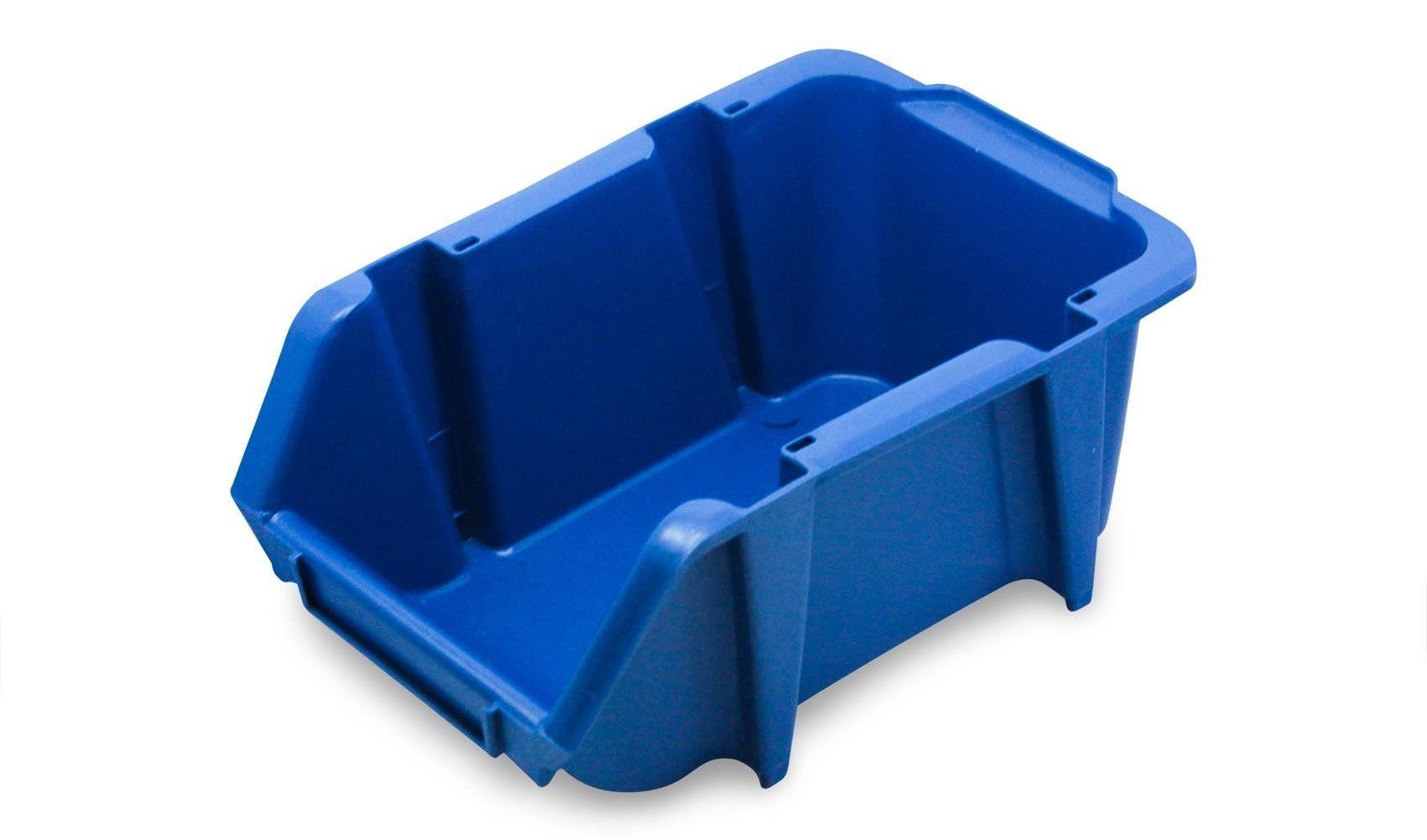 Caixa Bin Organizadora Plástica Nº3 Azul com 60 peças
