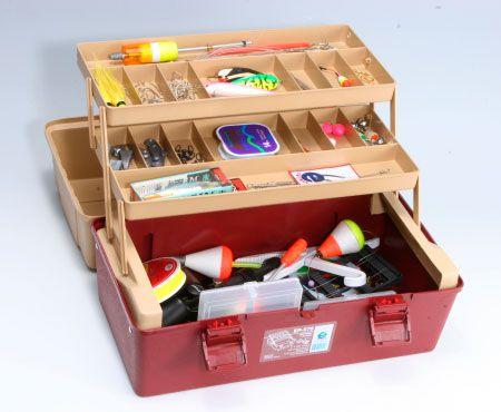 Caixa de Pesca Emifran EP-070 2 Bandejas Articuladas+2 Mini Estojos