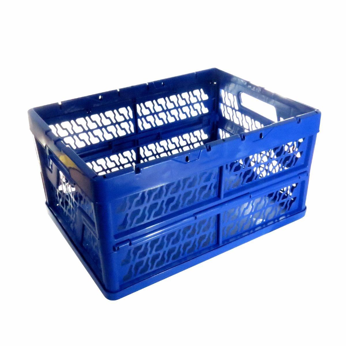 Caixa Plástica Dobrável 25kg Organizadora Eco Brasfort 7838