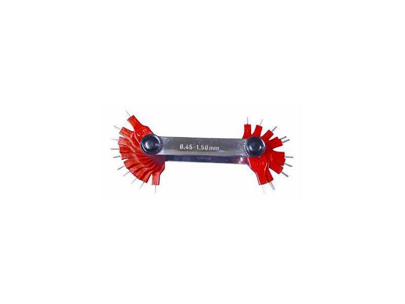 Calibre de Furo em Inox de 0,45 a 1,50 mm com 20 peças