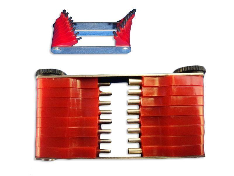 Calibre de Furo em Inox de 1,50 a 3,00 mm com 16 peças