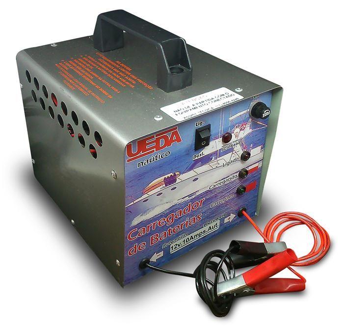 Carregador Bateria 10A Nautico Automotivo Bivolt Ueda