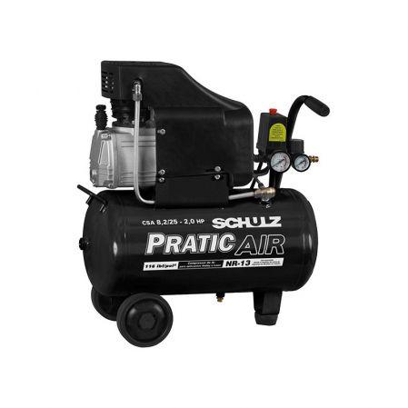 Compressor De Ar Pratic Air 8,5 Pcm 25l 2cv Schulz 220v