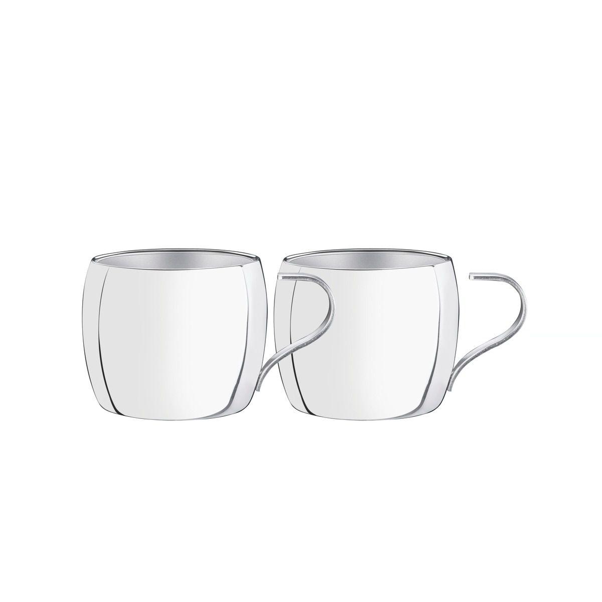 Conjunto De Xícaras Inox Tramontina Para Café Acabamento Brilho 2 Peças