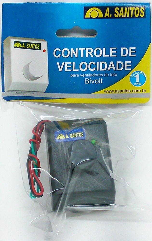 Controle de Velocidade p/ Ventiladores de teto 2059 ASANTOS
