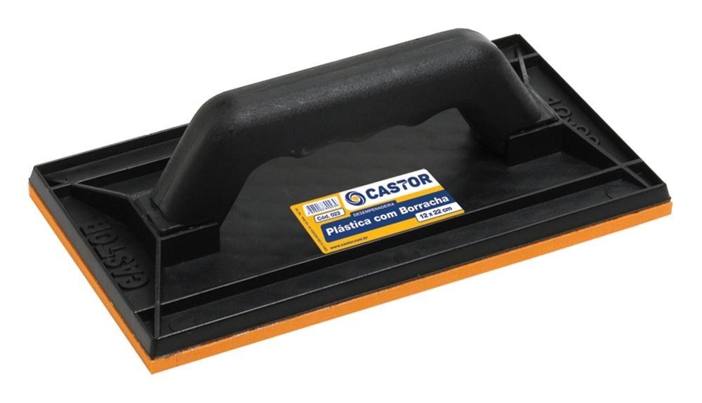 Desempenadeira plástica PVC com borracha 12 023 Castor
