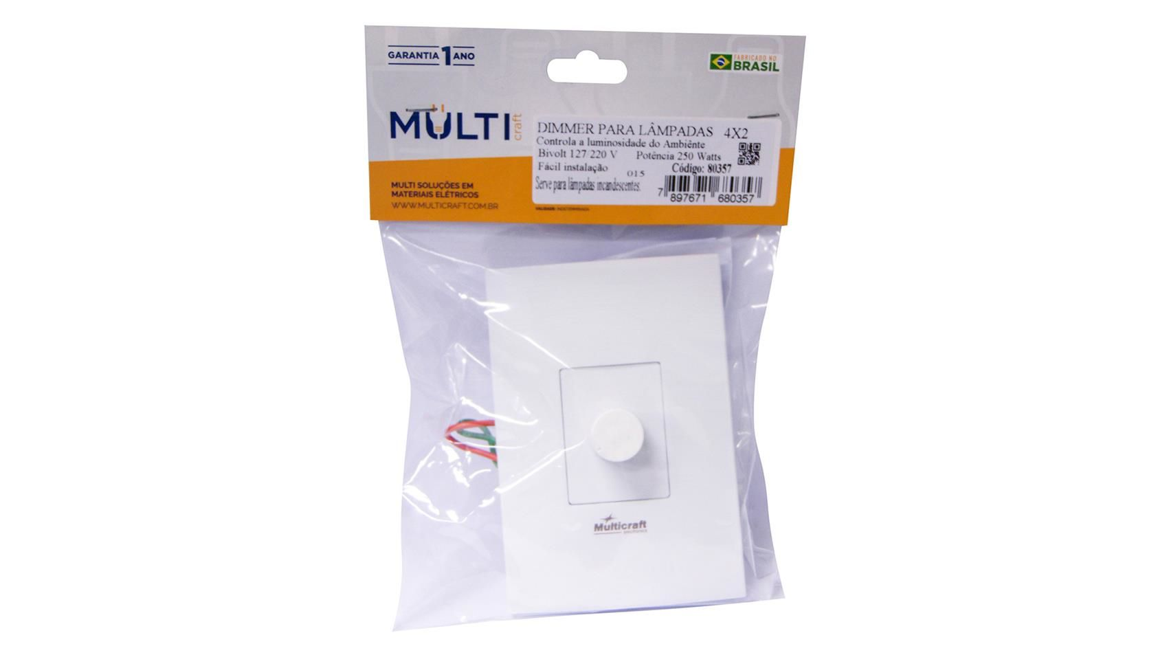 Dimmer Rotativo Multicraft Branco 80357