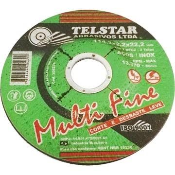 Disco De Corte/des Para Inox Telstar 4,1/2x7/8 C/5 Unidades
