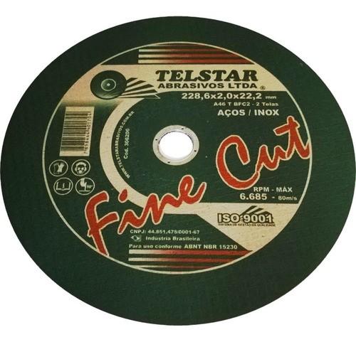 Disco De Corte Para Inox Telstar 9x2,0mm X7/8 (5 Unidades)