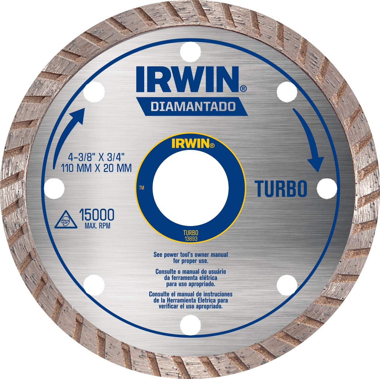 Disco Diamantado 110mm Turbo Iw13893 Irwin