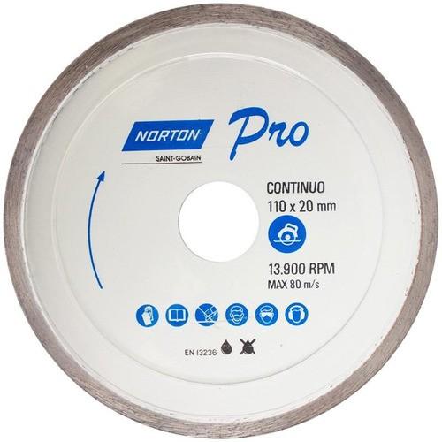 Disco Diamantado 4.3/8 Continuo Pro Para Porcelanato Norton