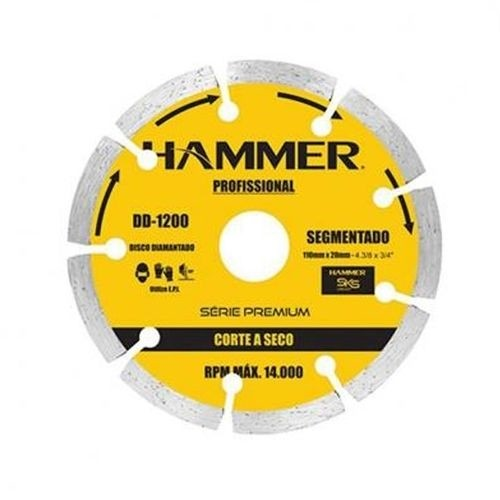 Disco Diamantado Hammer Segmentado 110mm Seco GYDD1200