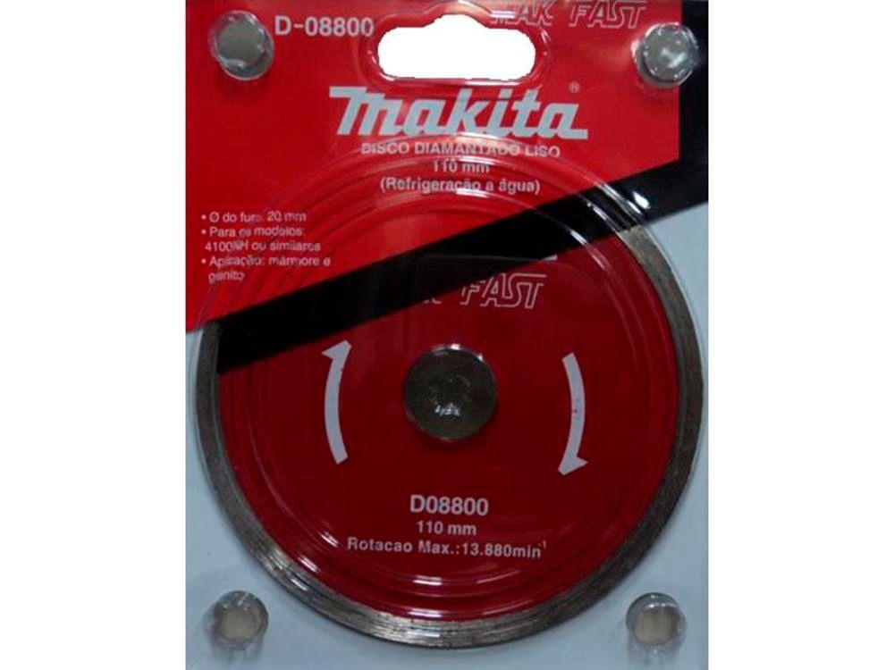 Disco Diamantado Liso Makita 8800 110mm X 20mm Max Fast
