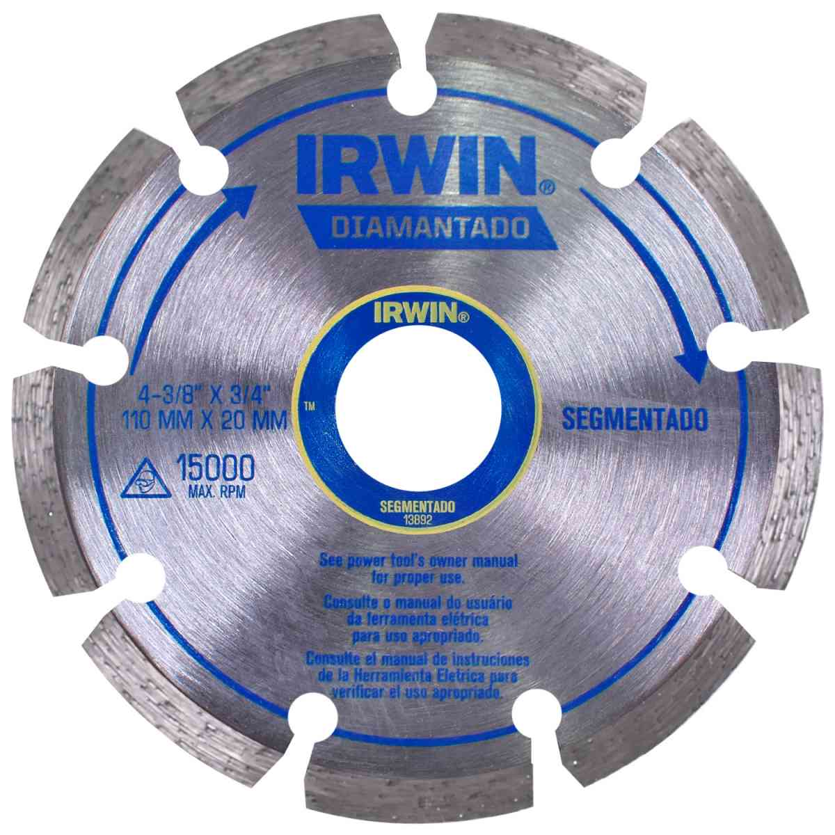 Disco Diamantado Segmentado 110mm X F20 Iw13892 Irwin