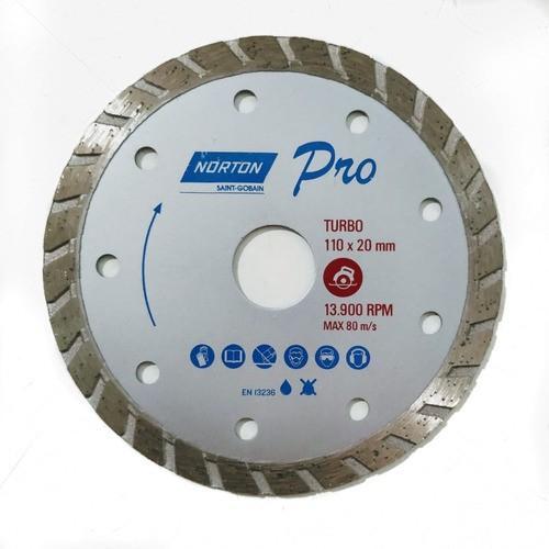Disco Diamantado Turbo Norton Pro 110mm Granito