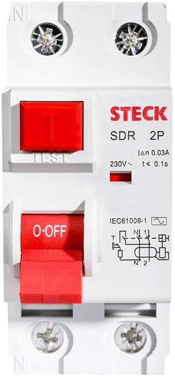 Disjuntor Anti Choque Steck Sdr 25a - Fuga Corrente