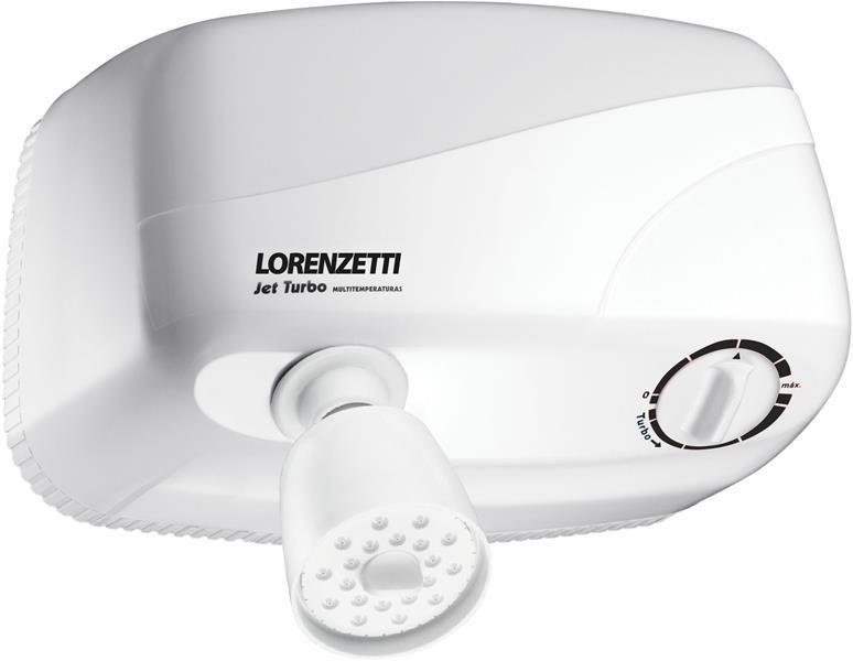 Ducha Jet Turbo Multitemperatura Branca 220V 7800W Lorenzetti