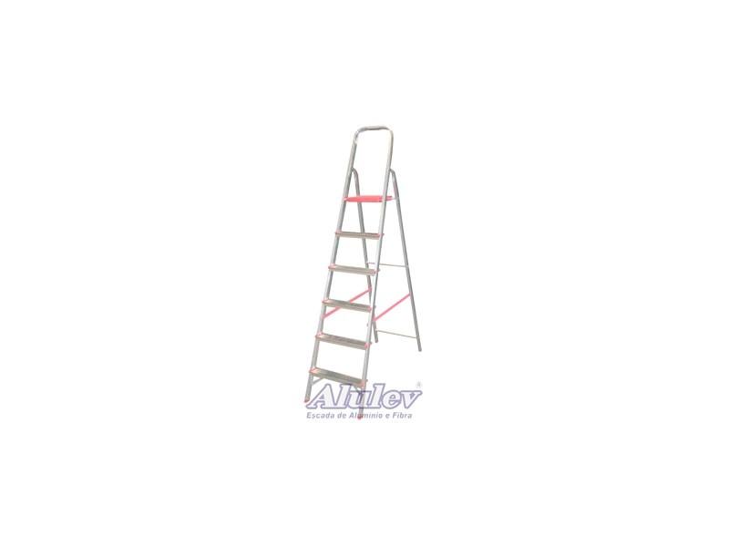 Escada de alumínio 05degraus Alulev