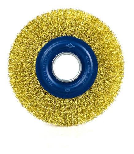 Escova Circular Aço Latonado 6x 1/2 Brasfort-7245