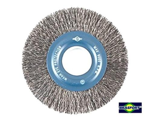 Escova Circular Em Aço Fio 0,38mm 6 X 1 Pol, Brasfort-7242